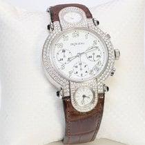 DeLaneau Automatic DeLaneau 18K Gold 3-Time Zone Diamond Chronograph Watch GTCWG new United States of America, New York, New York