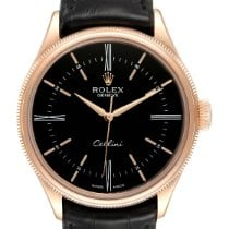 Rolex Cellini Time Rose gold 39mm Black