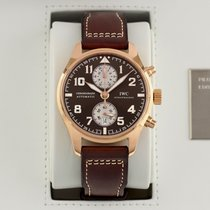 IWC Rose gold Automatic 43mm pre-owned Pilot Chronograph