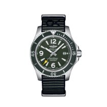 Breitling Superocean 44 Steel 44mm Green Arabic numerals United States of America, New York, New York