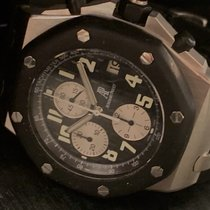Audemars Piguet Royal Oak Offshore Chronograph Acciaio 42mm Nero Arabi Italia, alassio
