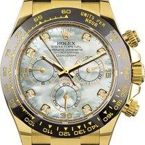 Rolex Daytona Желтое золото 40mm Перламутровый