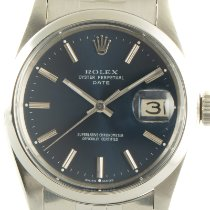 Rolex Oyster Perpetual Date Acero 34mm Azul