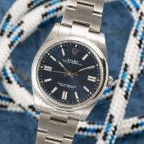 Rolex Oyster Perpetual Stal 41mm Niebieski
