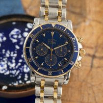 Zenith El Primero pre-owned 39mm Blue Chronograph Date Gold/Steel