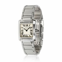 Cartier Tank Française White gold 20mm Silver United States of America, New York, New York