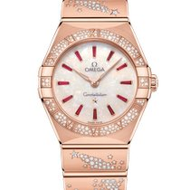 Omega Constellation Quartz Rose gold 28mm Mother of pearl