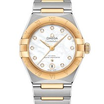 Omega Constellation Gold/Steel 29mm Mother of pearl