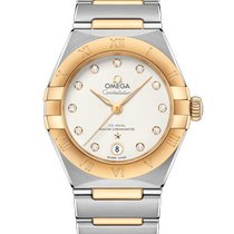 Omega Constellation Gold/Steel 29mm White