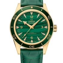 Omega Red gold Automatic Green 41mm new Seamaster Diver 300 M