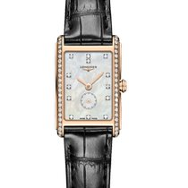 Longines Red gold Quartz Mother of pearl 20.8mm new DolceVita