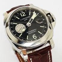 Panerai Luminor GMT Automatic Steel 44mm Black Arabic numerals