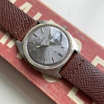 Omega Constellation Day-Date pre-owned Grey Leather