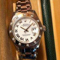 Rolex Lady-Datejust Pearlmaster Oro bianco 29mm Bianco Romani Italia, Torino