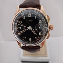 Universal Genève Red gold Manual winding Black Arabic numerals 34,5mm pre-owned Compax