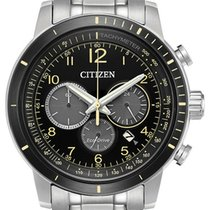Citizen Steel 44mm Quartz Citizen Eco-Drive Men's Brycen Chronograph Yellow Accents 44mm Watch CA4358-58E new United States of America, California, Palm Desert