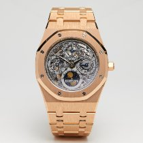 Audemars Piguet Aur roz Atomat Transparent 39mm folosit Royal Oak Perpetual Calendar