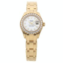 Rolex Lady-Datejust Pearlmaster Yellow gold 29mm Mother of pearl No numerals United States of America, Pennsylvania, Bala Cynwyd