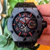 Hublot Carbon Automatic Transparent Arabic numerals 45mm pre-owned Big Bang Ferrari