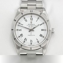 Rolex Air King Precision Steel 34mm White Roman numerals