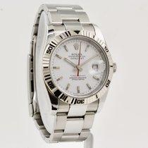 Rolex Datejust Turn-O-Graph Steel 36mm White No numerals