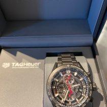TAG Heuer Carrera Calibre HEUER 01 gebraucht 43mm Schwarz Chronograph Datum Keramik