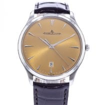 Jaeger-LeCoultre Master Ultra Thin Date pre-owned 40mm Champagne Date Leather