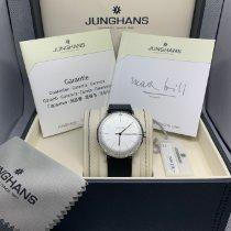 Junghans max bill Handaufzug Stal 34mm Srebrny Bez cyfr