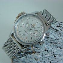 Breitling Transocean Chronograph 38 Steel 38mm Silver No numerals
