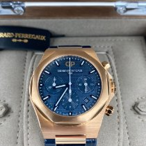 Girard Perregaux Or rose Remontage automatique Bleu Sans chiffres 42mm nouveau Laureato