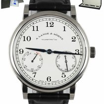 A. Lange & Söhne new Manual winding Luminous hands Chronometer Screw-Down Crown 39mm White gold Sapphire crystal