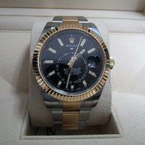 Rolex Sky-Dweller Золото/Cталь 42mm Черный Без цифр