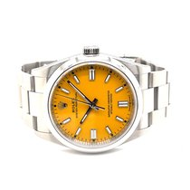 Rolex Oyster Perpetual 36 Steel 36mm Yellow No numerals United States of America, California, La Jolla