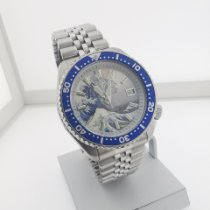 Seiko Prospex Steel 42mm Blue No numerals