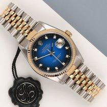 Rolex Datejust Złoto/Stal 36mm Niebieski