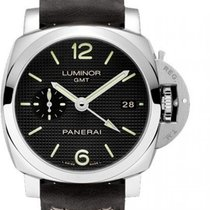 Panerai Luminor 1950 3 Days GMT Automatic Сталь Черный