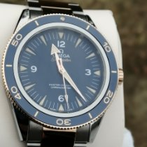 Omega Titanium Automatic Blue Arabic numerals pre-owned Seamaster 300