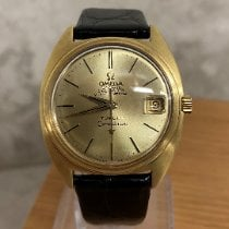 Omega Yellow gold Automatic Gold No numerals 35mm pre-owned Constellation