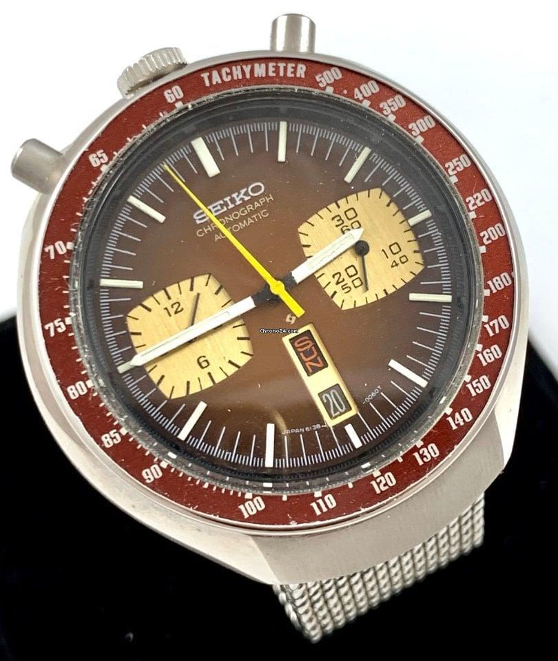 Seiko Bullhead Seiko Automatic Chronograph 1960 подержанные