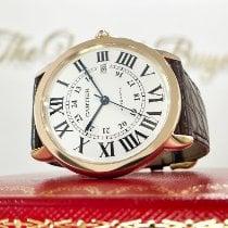 Cartier Rose gold Automatic Silver Roman numerals 42mm pre-owned Ronde Solo de Cartier