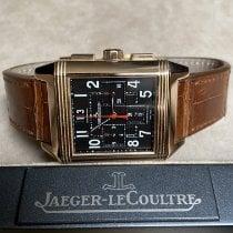 Jaeger-LeCoultre Reverso Squadra Chronograph GMT Rose gold 35mm Black Arabic numerals