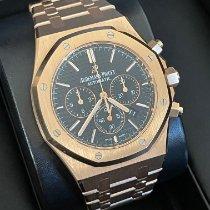 Audemars Piguet Royal Oak Chronograph Aur roz 41mm Negru Fara cifre