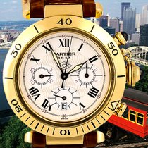 Cartier Pasha Yellow gold 38mm White Roman numerals