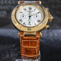 Cartier Pasha Gelbgold 38mm Weiß Römisch