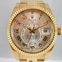 Rolex Sky-Dweller Желтое золото 42mm Cеребро Aрабские
