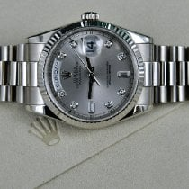 Rolex Day-Date 36 White gold 36mm Silver United States of America, Michigan, Detroit