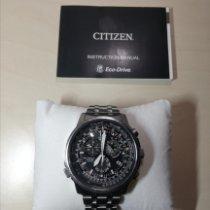 Citizen Promaster Sky Steel 45mm Black Arabic numerals