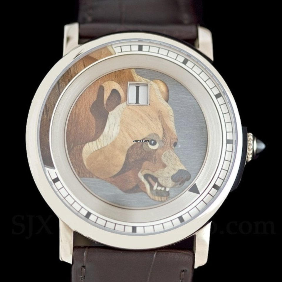 Cartier Rotonde de Cartier Rotonde de Cartier Rotonde de Cartier With Marquetry Bear Motif 2011 pre-owned