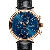 IWC Pозовое золото Автоподзавод Синий 42mm новые Portofino Chronograph