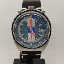 Breitling gebraucht Handaufzug 42mm Blau Plexiglas